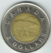 Canada, Elizabeth II, Two Dollars 1996, VF, WB7295
